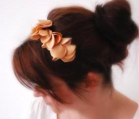 Romantic GOLD flowery hair band Bridesmaid Hair Accessory inspired by Paris Hilton Feminine